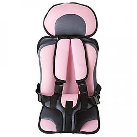 Ghế ngồi ô tô giữ bé trên xe hơi - Màu hồng phấn