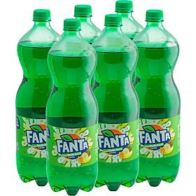 Lốc 6 Chai Nước Giải Khát Có Gas Fanta Soda Kem (1.5Lx6)