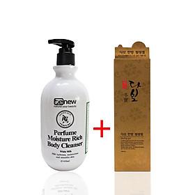 Sữa Tắm Không Ăn Nắng Trắng Da Thơm Lâu Bảo Vệ Da Hàn Quốc Cao Cấp Benew Perfume(450ml) + Tẩy Tế Bào DaBo Cao Cấp– Hàng Chính Hãng