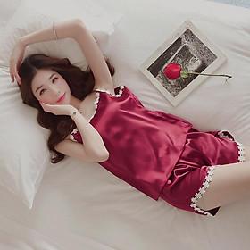 Váy Ngủ Hai Dây Quyến Rũ Bộ đồ mặc nhà,Bộ Đồ ngủ  hai dây nữ chất liệu lụa, phong cách Hàn Quốc, phù hợp cho mùa hè V164