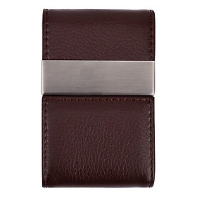 HYX Leather Business Card Holder Name Card Case Double Side Open Credit Card Case