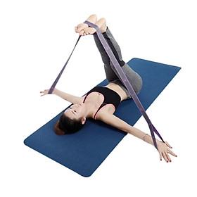 Dây tập yoga 2 lớp - Đai miniband đàn hồi kháng lực tập hỗ trợ các bài tập thể dục tại nhà duy trì vóc dáng (giao màu ngẫu nhiên)
