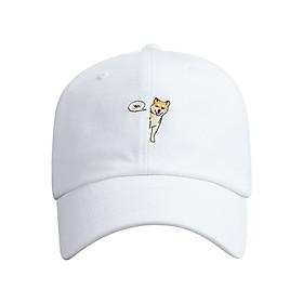 Nón Ballcap Hàn Quốc Half Hachi PREMIER FL405 - Trắng