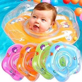 Phao Bơi Chống Lật Đỡ Cổ Sắc Màu Siêu Cute Cho Bé Siêu An Toàn PB01