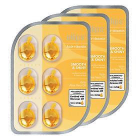 Combo 12 Vỉ 6 Viên Serum Vitamin Dưỡng Tóc Mềm Mượt Và Óng Ả Ellips Smooth & Shiny