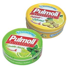 Hình đại diện sản phẩm Combo 2 Hộp Kẹo Pulmoll Ingwer-Zitrone Vị Chanh Gừng (50g) + Limette Vị Chanh Muối (50g)