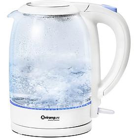 Ấm Đun Thủy Tinh Siêu Tốc Cao Cấp Đa Năng Ariranglife ZDH-A17L1 – màu trắng (1,7 lít) - Ấm Đun Thủy Tinh Thông Minh Chịu Nhiệt - Bình đun thủy tinh siêu nhanh cao cấp đa năng, có thể đun nước, pha trà, pha sữa, pha mì, tự ngắt điện khi sôi, an toàn sức khỏe - Hàng Chính Hãng