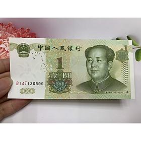 Tờ Tiền China 1 Yuan sưu tầm -  tặng phơi nylon bảo quản tiền