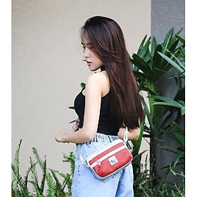 Túi đeo chéo - Túi bao tử 2 in 1 HENKA RED/SILVER [Back To Basic]