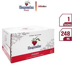 Thùng 24 Chai Bia Hoegaarden Rosée (248ml x 24 Chai)