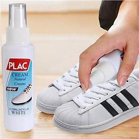 Chai xịt tẩy trắng giày dép túi xách Plac - đầu cọ bàn chải hiệu quả (100ml)