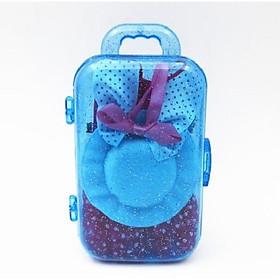 Bộ vali kèm phụ kiện quần áo cho búp bê giao màu ngẫu nhiên