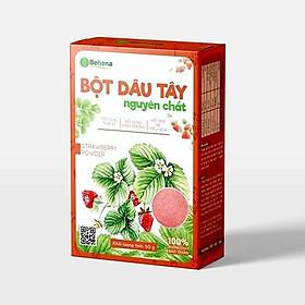 Bôt dâu tây Behena nguyên chất 100% bổ sung dinh dưỡng, làm đẹp da và nguyên liệu làm bánh - Hộp 50g