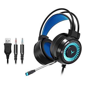 Tai nghe gaming có Mic, LED AMOI PC68, Tai nghe chuyên game, Tai nghe siêu bass jack 3.5 cổng USB dùng cho PC/Laptop-Hàng chính hãng