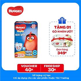 Tã Quần Huggies Dry Gói Cực Đại Angry Birds Phiên Bản Giới Hạn XXL56 (56 Miếng) - Tặng 8 Miếng