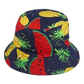 Mũ bucket trái cây phong cách thời trang du lịch biển, họa tiết trái cây độc đáo, chất liệu vải mềm mại - Hạnh Dương