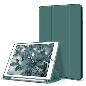 bao da ipad mini5 mini4 air 3 2 1 pro 10.5/10.2/9.7 ipad gen 8 7 6 5 2020/2019/2018 Chức năng đánh thức và ngủ tự động với khay đựng bút