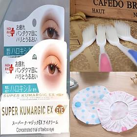 Combo Kem chống Thâm, Chống Nhăn, Chống Bọng Mắt SUPER KUMARGIC EX Nhật Bản Tặng kèm bàn chải nano kháng khuẩn lông mềm và 1 mũ tắm trùm đầu cao cấp