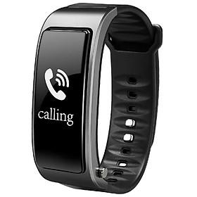 Đồng Hồ Đeo Tay Tích Hợp Tai Nghe Bluetooth V4.1 - Đen