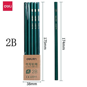 Deli 2B/HB/2H Pencil 10pcs Pencils Exam Writing Drawing Sketch Writing Pencil Log Graphite Refill Pen Multi-standard Pen Stationery Gadgets Supplies For Home Office School Accountant