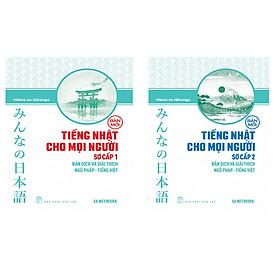 Combo minna no nihongo Bản Dịch Và Giải Thích Ngữ Pháp - Tiếng Việt (Bản Mới) tập1 và 2 (Tiếng nhật cho mọi người) Tặng sổ tay VDT
