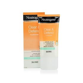 Kem dưỡng kiềm dầu kháng mụn Neutrogena Clear & Defend Moisturiser 50ml