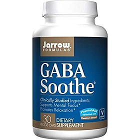 Jarrow Formulas GABA Soothe, Supports Mental Focus, Promotes Relaxation, 30 Veggie Capsules