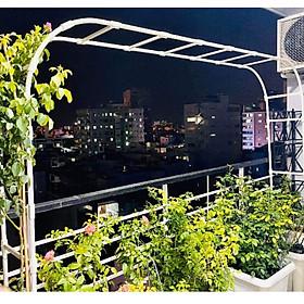 KHUNG CỔNG VÒM HOA HỒNG 2M25 - Dùng làm khung giàn cho hoa leo, hoa hồng - Tạo điểm nhấn cho khu vườn