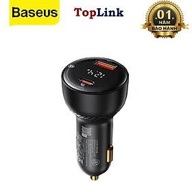 Tẩu Sạc Nhanh Xe Hơi 100W 2 Cổng Sạc USB Type C Kỹ Thuật Số PPS QC PD 3.0 - Hàng Chính Hãng Baseus