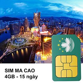 Sim 4G Ma Cao - Gói 4GB Trong 15 Ngày