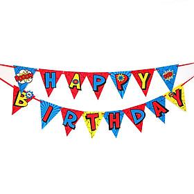 Dây Treo Chữ Happy Birthday Siêu Nhân Happy Kibu