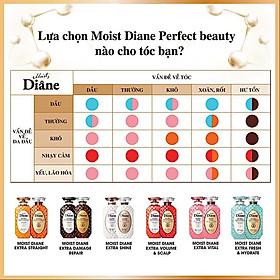 Cặp gội/xả Moist Diane Extra Straight giúp vào nếp, suôn mượt Hàn Quốc (2x450ml) - Dành cho tóc khô,quăn tặng kèm móc khoá-3