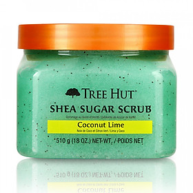 Tẩy tế bào chết cơ thể Tree Hut Shea Sugar Scrub Coconut Lime