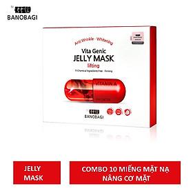 Combo 10 Mặt Nạ Dưỡng Ẩm Da Banobagi Vita Genic Jelly Mask Hàn Quốc - LIFTING ĐỎ (30ml x 10)