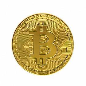 Đồng Bitcoin hợp kim mạ vàng 24k ( Quà tặng tết)