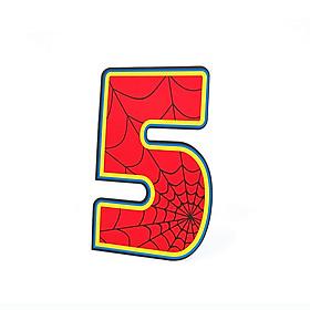 Số Tuổi Trang Trí Sinh Nhật Siêu Nhân Happy Kibu- 5 Tuổi