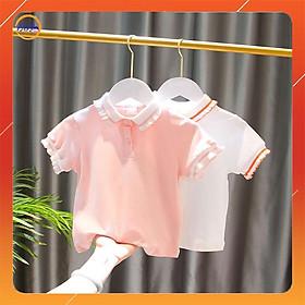 Áo Polo Trẻ Em Xuất Xịn, Áo Phông Cho Bé Gái Size 10-24Kg Chất Cotton