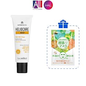 Kem chống nắng dạng gel Heliocare 360 gel oil free spf50 50ml TẶNG mặt nạ Sexylook (Nhập khẩu)