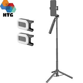Gậy chụp hình livestream CYKE A61 siêu dài 160cm, có gimbal nhẹ, tích hợp 2 đèn LED chiếu sáng, hàng chính hãng
