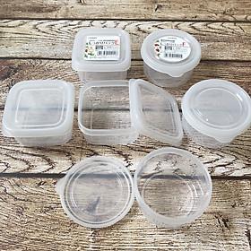 Combo 6 hộp đựng đồ ăn dặm NAKAYA Nhật Bản (3 hộp tròn 180ml + 3 hộp vuông 200ml)