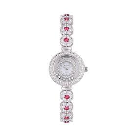 Hình đại diện sản phẩm Đồng hồ nữ chính hãng Royal Crown 5308 dây đá vỏ trắng đá ruby