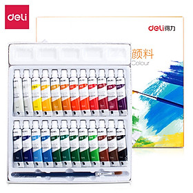 Deli (deli) 24 color 5ml student art special entry level gouache painting paint gouache pigment 73864