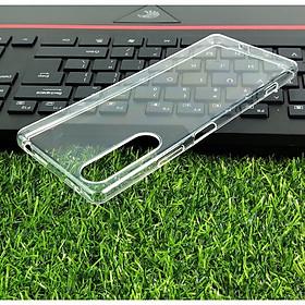 Ốp cho Sony Xperia 1 II (Mark 2 ) - Silicon trong suốt hãng GOR Hàng nhập khẩu