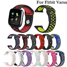 Replacement Band Sport Breathable Silicon Wristband Watch Strap for Fitbit Versa
