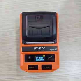 Máy in hóa đơn, in tem nhiệt không dây Bluetooth di động Puty PT-50DC ( Hàng nhập khẩu)