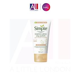 Sữa rửa mặt Simple Protect N Glow Express Glow Clay Polish - 150ml (Bill Anh)