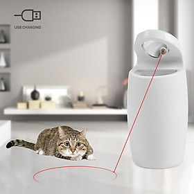 Cat Toy Cat Tracking Red Light Toy Cat Interactive Toy Auto Rotating Light Chaser Toy for Cats USB Charging