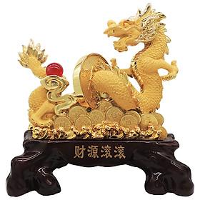 Tượng Rồng Vàng Phong Thủy Biểu Tượng Kim Long (giao hình ngẫu nhiên)
