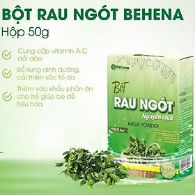 Bột rau ngót nguyên chất Behena , giàu dinh dưỡng, bổ sung hàm lượng vitamin cao, giúp ngăn ngừa táo bón (Hộp 50gram)