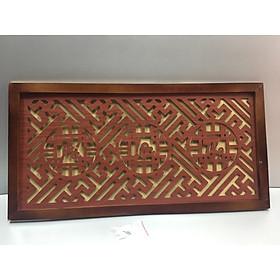 Tấm chống ám khói (phúc lộc thọ ) nâu.( trang trí lắp trên ban thờ treo tường).